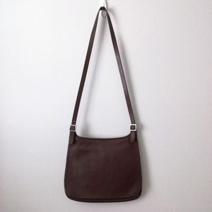 Coach Vintage Hippie Flap Chocolate Saddle Bag